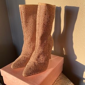 Cape Robbin. Sparkly Boot Heels. Gorgeous! Size 8.